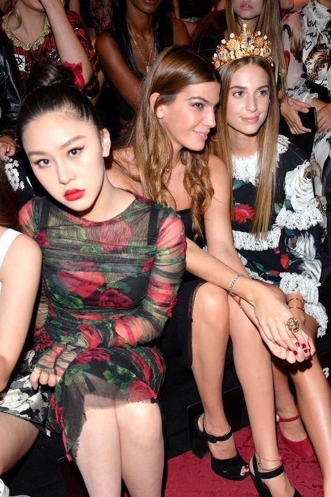 **Natasha Lau, Bianca Brandolini, and Talita von Furstenberg** <br> <br> Chinese, Italian and American-European royality. Also: hair goals.