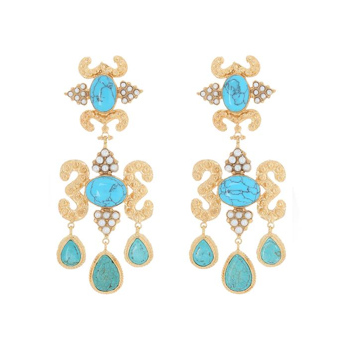These striking earrings work across all four big race days this [Melbourne Cup Carnival](https://www.flemington.com.au/melbourne-cup-carnival/tickets-and-packages) Earrings, $299, [Christie Nicolaides](https://www.myer.com.au/shop/mystore/women/accessories-659580--1/designer-jewellery/christie-nicolaides-aceline-earrings-turquoise) at Myer