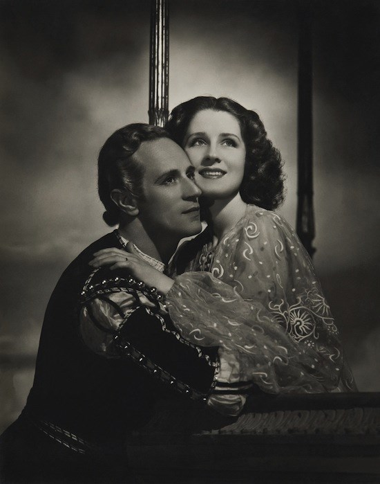 **Leslie Howard and Norma Shearer in *Romeo and Juliet*** <br><br> Leslie Howard and Norma Shearer played the star-crossed lovers in the 1936 film *Romeo and Juliet*. The casting may not have been super age-appropriate—Shearer was 34 and Howard was 43! Romeo and Juliet are supposed to be teenagers…