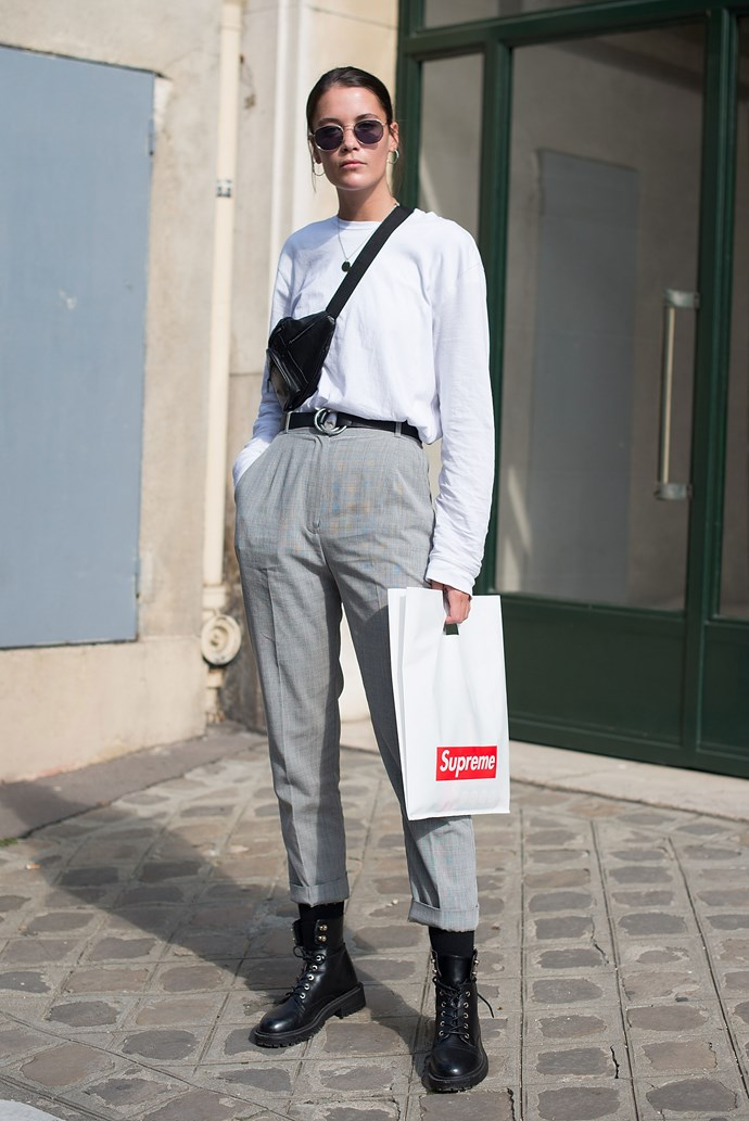 A guest outside Dior.