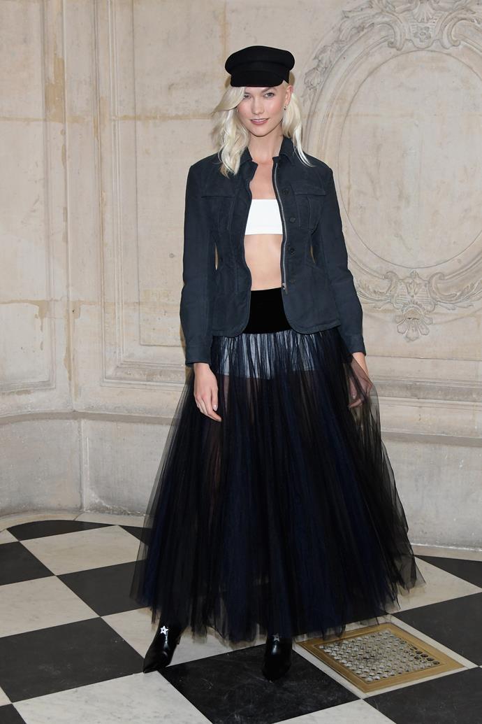 Karlie Kloss, at Dior.
