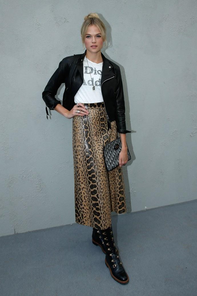 Gabrielle Wilde, at Dior.