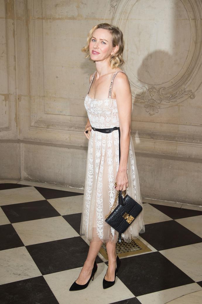 Naomi Watts, at Dior.