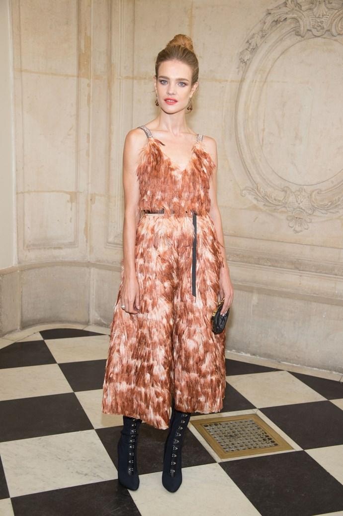 Natalia Vodianova, at Dior.