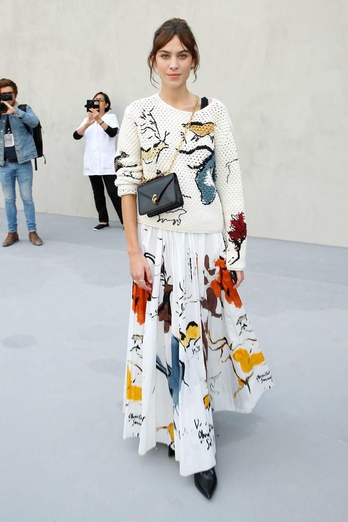 Alexa Chung, at Dior.