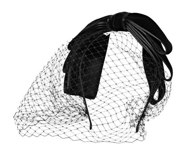 Hairband, $436, Jennifer Behr at [Net-A-Porter](https://www.net-a-porter.com/au/en/product/946294/jennifer_behr/bow-embellished-velvet-veiled-headband)