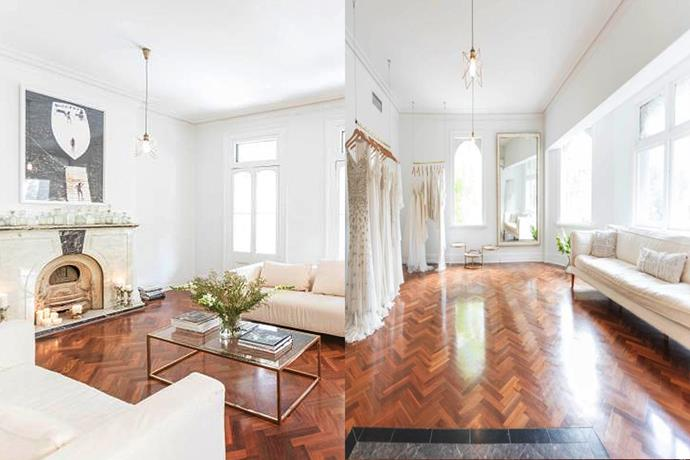 **[Bo & Luca Bridal](https://www.boandluca.com/), Sydney** <br><Br> With parquet flooring, a decadent fire place and large, sprawling windows—this Parisian inspired space will make you feel so tranquil, you might forget you have a wedding to plan. <br><br> *Level 1/457 Elizabeth Street, Surry Hills NSW* <br><br> *pc: [The Lane](http://thelane.com/style-guide/fashion/bridal/a-visit-to-bo-and-lucas-sydney-studio)*