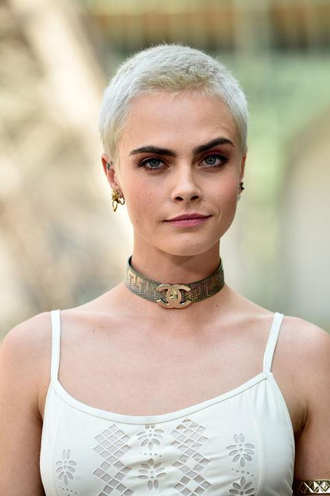 CARA DELEVINGNE WITH A BUZZCUT