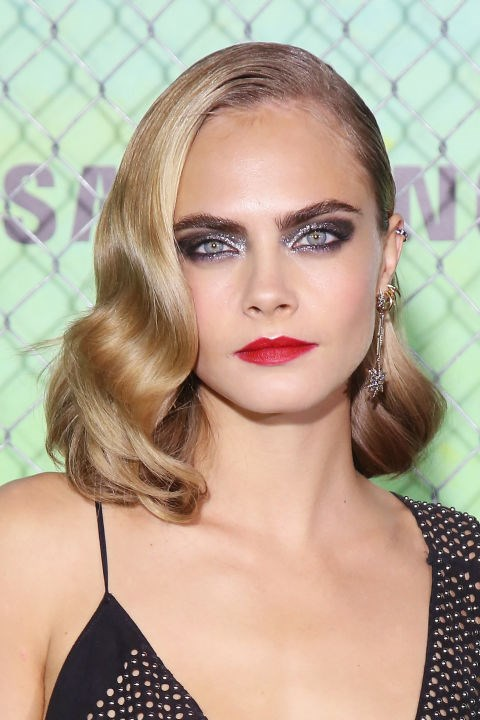 CARA DELEVINGNE WITH OLD HOLLYWOOD WAVES