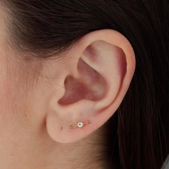 If you have two holes, you can use them for an orbital piercing—when one piece of jewellery goes through two (or sometimes more) holes. <br><br> Image: [@maria_tash](https://www.instagram.com/p/BSVRjYeDvet/?taken-by=maria_tash)
