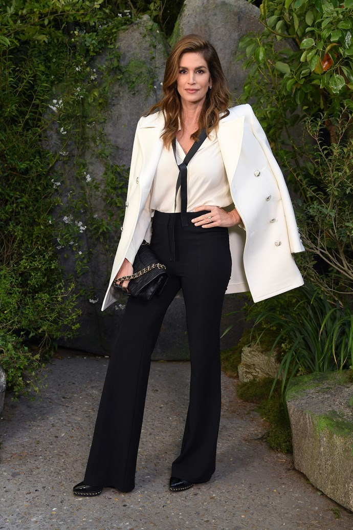 Cindy Crawford at Chanel spring summer '18