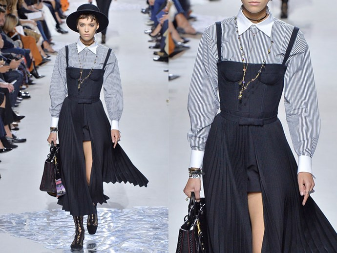 **Dior:** Make your favourite summer day dress office-appropriate by teaming with a crisp collared shirt.