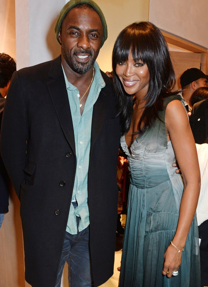That time he charmed Naomi Campbell to the point where she cracked a smile.