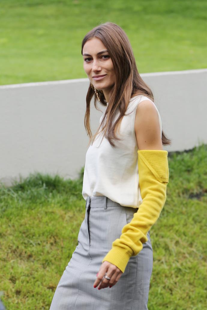**Arm warmers**<br><br> Thanks to Calvin Klein, arm warmers are making a very firm, very warm comeback. Just ask Beyoncé. What better way to bring your old-faithful work dresses into the modern era?