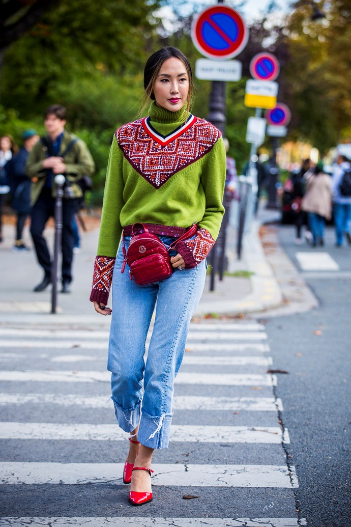 **Ugly sweaters**<br><br> Ugly sweaters aren't just for Christmas morning, folks. Garish knits are taking centre stage as the go-to for switching up your jeans-and-tee routine. Extra points for argyle.