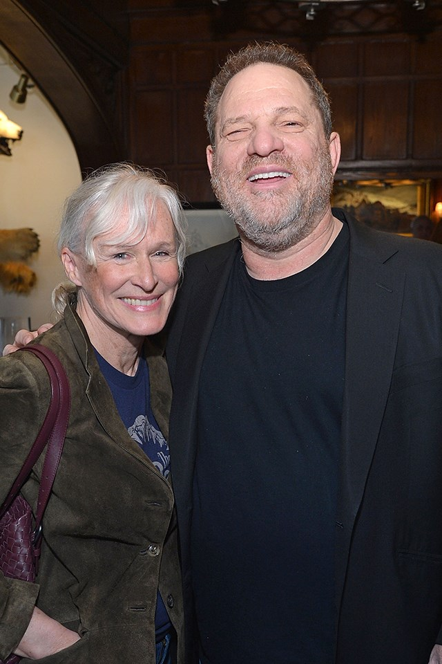 """**Glenn Close** <br><br> Close wrote a long statement to [*The Times*](https://www.nytimes.com/2017/10/09/movies/dench-close-streep-weinstein.html), in which she said she felt """"angry and darkly sad."""" <br><br> """"I'm sitting here, deeply upset, acknowledging to myself that, yes, for many years, I have been aware of the vague rumors that Harvey Weinstein had a pattern of behaving inappropriately around women. Harvey has always been decent to me, but now that the rumors are being substantiated, I feel angry and darkly sad,"""" she wrote. <br><br> She added, """"Ours is an industry in which very few actors are indispensable and women are cast in far fewer roles than men, so the stakes are higher for women and make them more vulnerable to the manipulations of a predator. I applaud the monumental courage of the women who have spoken up. I hope that their stories and the reportage that gave them their voices represents a tipping point, that more stories will be told and that *change* will follow."""""""