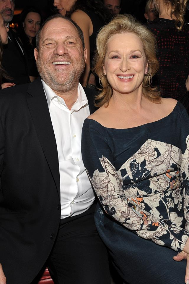 "**Meryl Streep** <br><br> The Oscar-winning actress, who worked with Weinstein on the films *August: Osage County* and *The Iron Lady*, told [*The Huffington Post*](http://www.huffingtonpost.com.au/entry/meryl-streep-harvey-weinstein_us_59db5d87e4b072637c45420e), ""The disgraceful news about Harvey Weinstein has appalled those of us whose work he championed, and those whose good and worthy causes he supported. The intrepid women who raised their voices to expose this abuse are our heroes. <br><br> ""One thing can be clarified. Not everybody knew. Harvey supported the work fiercely, was exasperating but respectful with me in our working relationship, and with many others with whom he worked professionally. I didn't know about these other offenses: I did not know about his financial settlements with actresses and colleagues; I did not know about his having meetings in his hotel room, his bathroom, or other inappropriate, coercive acts. And If everybody knew, I don't believe that all the investigative reporters in the entertainment and the hard news media would have neglected for decades to write about it. <br><br> ""The behavior is inexcusable, but the abuse of power familiar. Each brave voice that is raised, heard and credited by our watchdog media will ultimately change the game."""