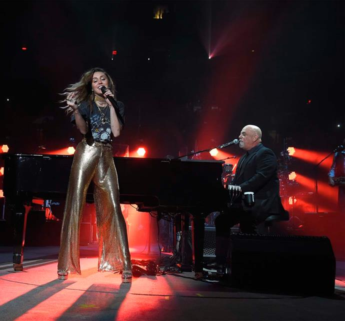 Very into the look she wore while performing with Billy Joel at Madison Square Garden.