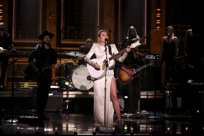 Performing on *The Tonight Show Starring Jimmy Fallon*.