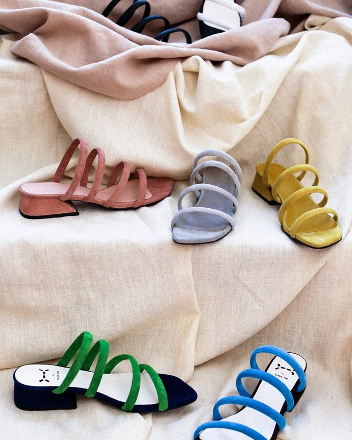 **Yuul Yie** <br><br> Known for her vibrant use of colour and square-toed styles, Korean designer Yuul Yie is one to watch.  <br><br> **Featured:** Sandal, $223 at [W Concept](http://rstyle.me/n/cs7h2kvs36) <br><br> **Handle:** [@yuulyie_official](https://www.instagram.com/yuulyie_official/?hl=en)