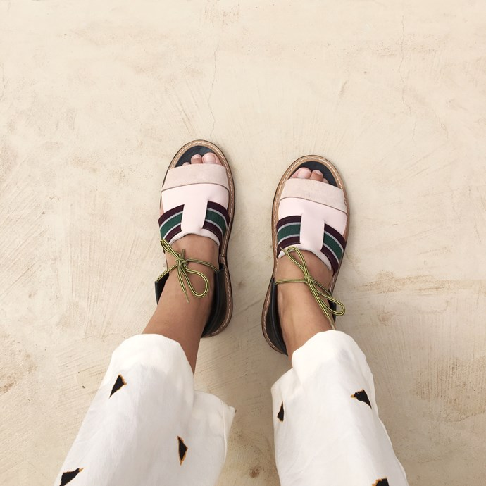 **LRNCE** <br><br> Inspired by traditional handicraft that's executed in a contemporary fashion, LRNCE sandals are colourful enough to brighten up your summer feed but understated enough to go the distance.  <br><br> **Featured:** Sandal, $200 at [LRNCE](http://lrnce.com/products/working-9-to-5-just-to-stay-alive/nouss-nouss/) <br><br> **Handle:** [@lrnce](https://www.instagram.com/lrnce/?hl=en)