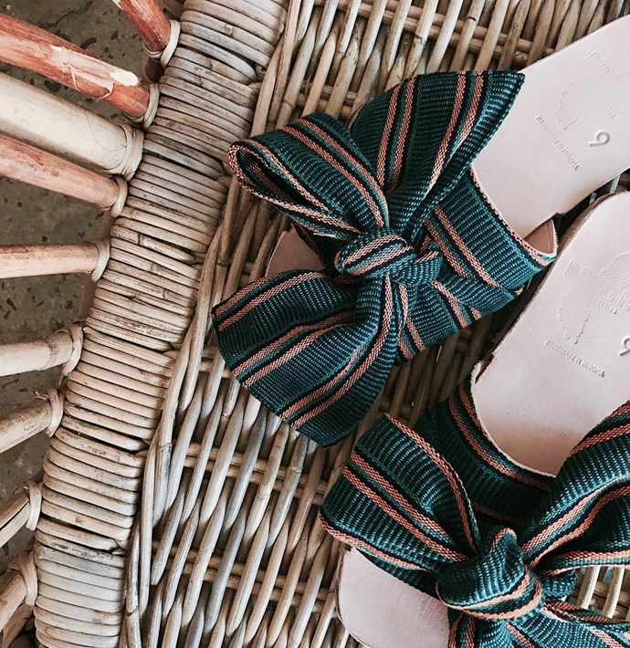 **Brother Vellies** <br><br> This Brooklyn based label is more widely known for their fluffy winter slippers—but their bow sandals are *made* for warm weather.  <br><br> **Featured:** Sandal, $285 at [Brother Vellies](https://brothervellies.com/products/burkina-slide-verde-stripe) <br><br> **Handle:** [@brothervellies](https://www.instagram.com/brothervellies/?hl=en)