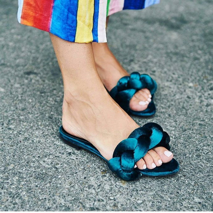 **Marco De Vincenzo** <br><br> Known for his braided sandals and [plexiglass heels](https://www.modaoperandi.com/marco-de-vincenzo-ss18/plexi-sandal?color=pink&material=Satin), Marco De Vinzeno's colourful creations are *made* for 'gramming.  <br><br> **Featured:** Sandal, $719 at [Farfetch](https://www.farfetch.com/au/shopping/women/marco-de-vincenzo-braided-sandals-item-11879558.aspx?storeid=9740&from=1) <br><br> **Handle:** [@marcodevincenzo](http://rstyle.me/n/cs7h5cvs36)