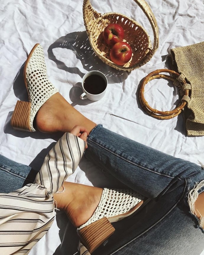 **Sol Sana** <br><br> Australian designed and a favourite of Bella Hadid, Sol Sana is your go-to for multipurpose sandals with an effortless appeal.  <br><br> **Featured:** Sandal, $209, at [Sol Sana](https://www.sol-sana.com.au/product/parker-mule-ivory/) <br><br> **Handle:** [@solsanashoes](https://www.instagram.com/solsanashoes/?hl=en)