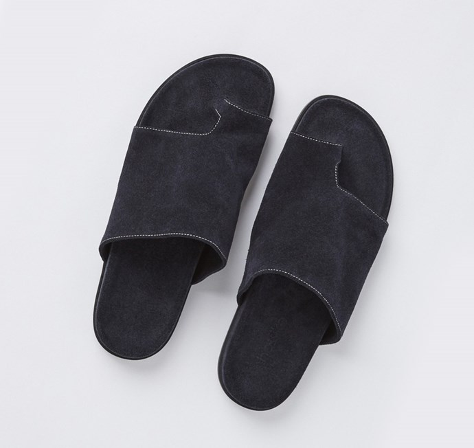 **Bassike** <br><br> The Aussie brand with a cult following, Bassike has perfected bold minimalism.  <br><br> **Featured:** Sandal, $495, at [Bassike](https://www.bassike.com/accessories/footwear/suede-slide-ss17wa04-ink) <br><br> **Handle:** [@bassike](https://www.instagram.com/bassike/?hl=en)