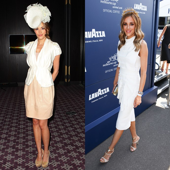 **Rebecca Judd** <br><br> At the Melbourne Cup Carnival launch in 2011 / At the Melbourne Cup in 2016
