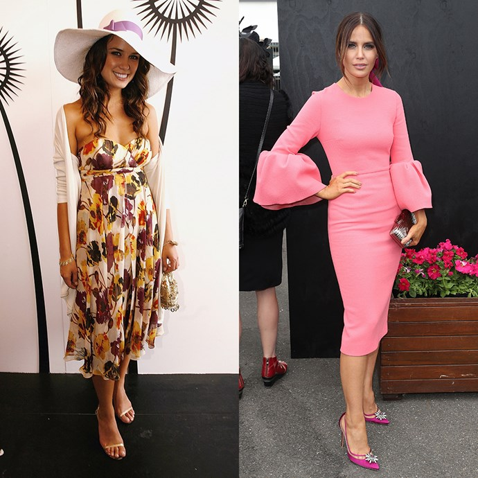 **Jodi Anasta** <br><br> At Derby Day in 2005 / At the Melbourne Cup in 2016