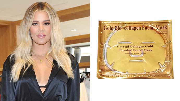 "**Khloé Kardashian** <br><br> In an interview with *[Glamour](https://www.glamour.com/story/khloe-kardashian-gold-face-mask?mbid=nl_101217_Daily_beautytips&CNDID=44601975&spMailingID=12130709&spUserID=MTY0NDU0OTgzNDkzS0&spJobID=1261051715&spReportId=MTI2MTA1MTcxNQS2|target=""_blank""