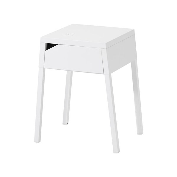 This says it's a bedside table, but really, it could just be a minimal white table for anywhere in your house. <br><br> Selje Bedside Table With Wireless Charging, $78.99 at [IKEA](http://www.ikea.com/au/en/catalog/products/S79133686/)