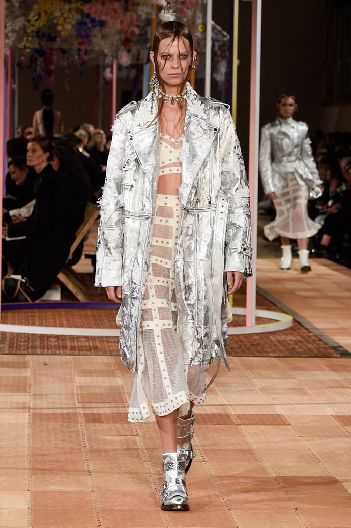 **Barbarella**  Like you needed an excuse to channel the fashion exploits of '70s-era Jane Fonda. Metallics, silver and a general space age atmosphere reigned supreme this season, and we believe it has a *lot* to do with the *Blade Runner* reboot.     Pictured: Alexander McQueen spring summer '18
