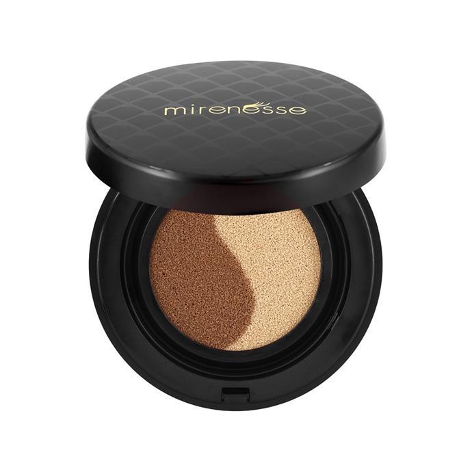 "**Contour** <br><br> Mirenesse 10 Collagen Cushion Custom Liquid Colour Face Glow, $60 at [Sephora](https://www.sephora.com.au/products/mirenesse-10-collagen-cushion-custom-liquid-colour-face-glow/v/default?gclid=Cj0KCQjwsZHPBRClARIsAC-VMPACZBm1EeCZCYGpPWWAncmoph4PUzeIdN7xKHXR5xSBNw0PKX2RghIaAi_hEALw_wcB&dxid=b7bd4be2-97b6-1508205691&dxgaid=XY-fab413b9958798e52 target=""_blank"" rel=""nofollow"")"