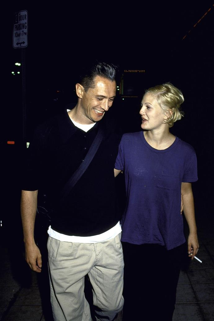 **The couple:** Drew Barrymore and Jeremy Thomas.<br><br> **Their ages:** Barrymore was 19, Thomas was 31.<br><br> **The story:** Barrymore and Thomas, an L.A. bar owner, were married for just 19 days in 1994.