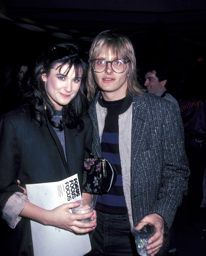 **The couple:** Demi Moore and Freddy Moore.<br><br> **Their ages:** Demi was 17, Freddy was 29.<br><br> **The story:** Actress Demi and singer Freddy married in 1980, and divorced in 1984. Demi kept her married name as her stage name.