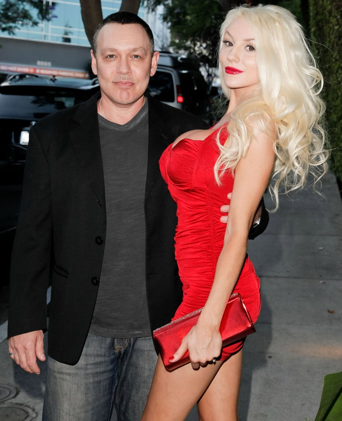 **The couple:** Courtney Stodden and Doug Hutchinson.<br><br> **Their ages:** Stodden was 16, Hutchinson was 51.<br><br> **The story:** Stodden and Hutchinson met on the Internet, and 'courted' online for six months. They met in person, married in Vegas and split in 2017.
