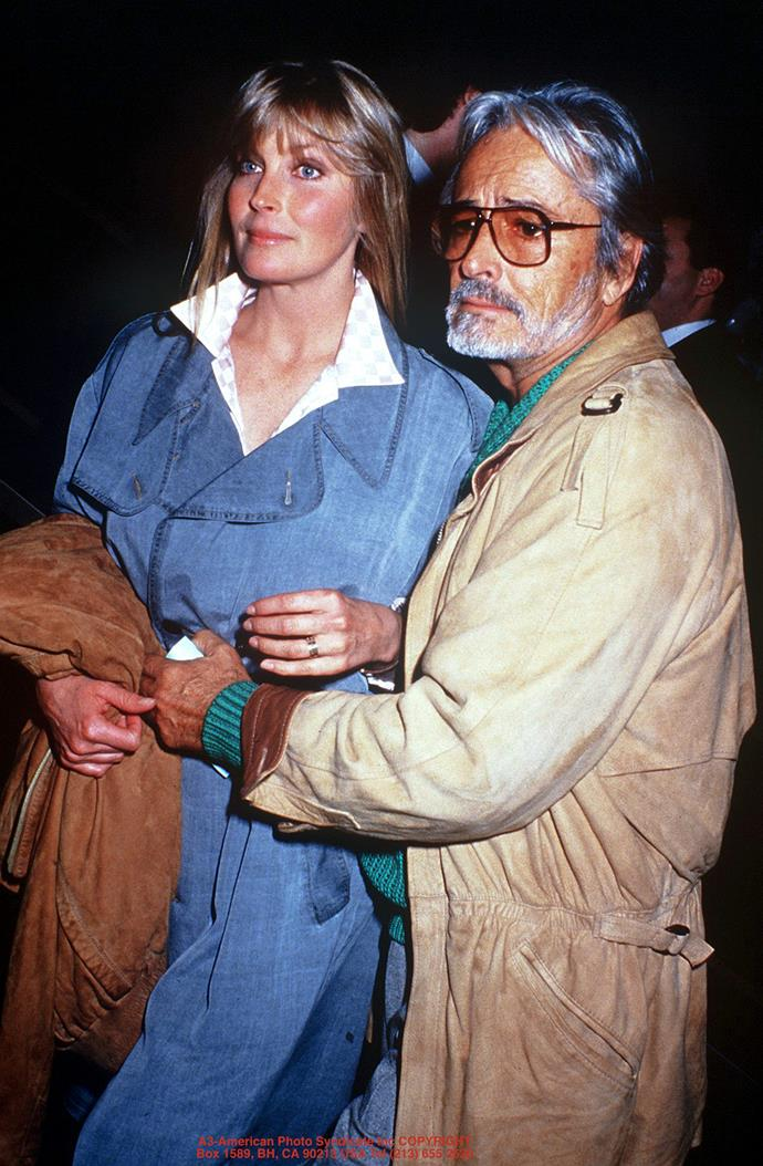 **The couple:** Bo and John Derek.<br><br> **Their ages:** Bo was 19, John was 49.<br><br> **The story:** Bo Derek—then Bo Collins—became romantically linked to John Derek was she was just 16, and Derek 46. The couple had to move from the U.S. to Germany to avoid statutory rape charges. At 19 and 49, the pair married, and stayed married until Derek's death in 1998.