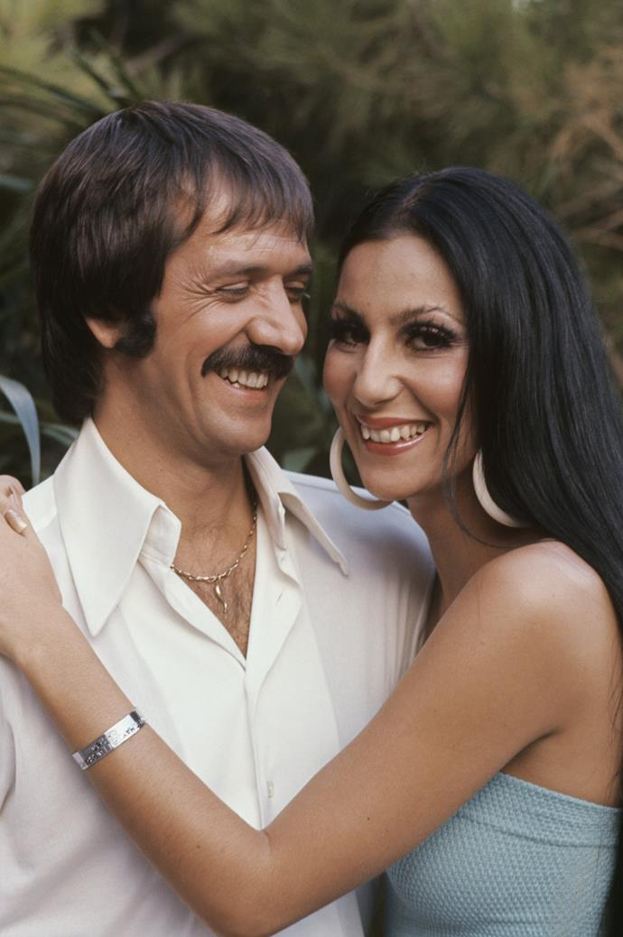 **The couple:** Cher and Sonny Bono.<br><br> **Their ages:** Cher was 18, Bono was 29.<br><br> **The story:** The pair found fame was 'Sonny & Cher,' and married in 1964. They share one child, Chaz Bono.