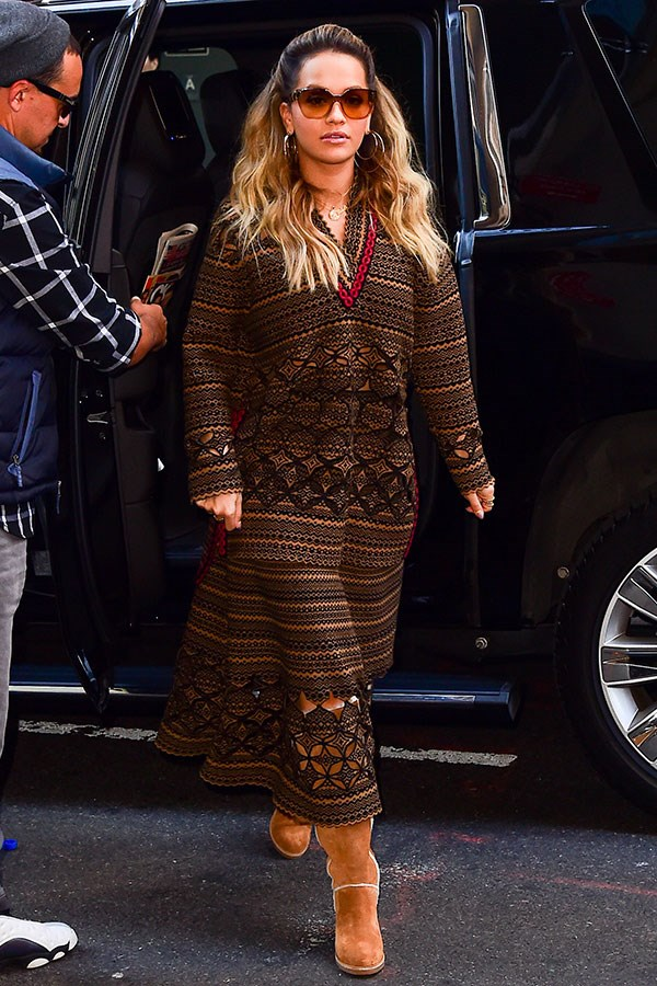 Wearing Fendi in New York City, October 2017
