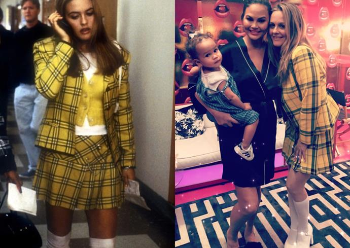 **Alicia Silverstone in her *Clueless* costume.**  Even though it's not the same outfit—the checks are different, and the fit is slightly longer. We're detail oriented, alright?—Alicia Silverstone still did a bang-up job of stepping back into Cher Horowitz's shoes.