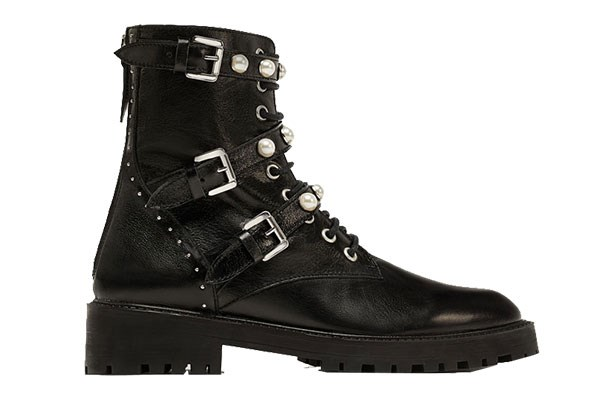 """Boots, $155 (approx.) at [Zara](https://www.zara.com/us/en/leather-ankle-boots-with-faux-pearls-p16132201.html