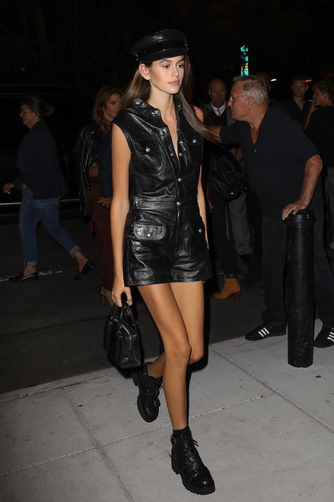 At New York Fashion Week, September 7, 2017.