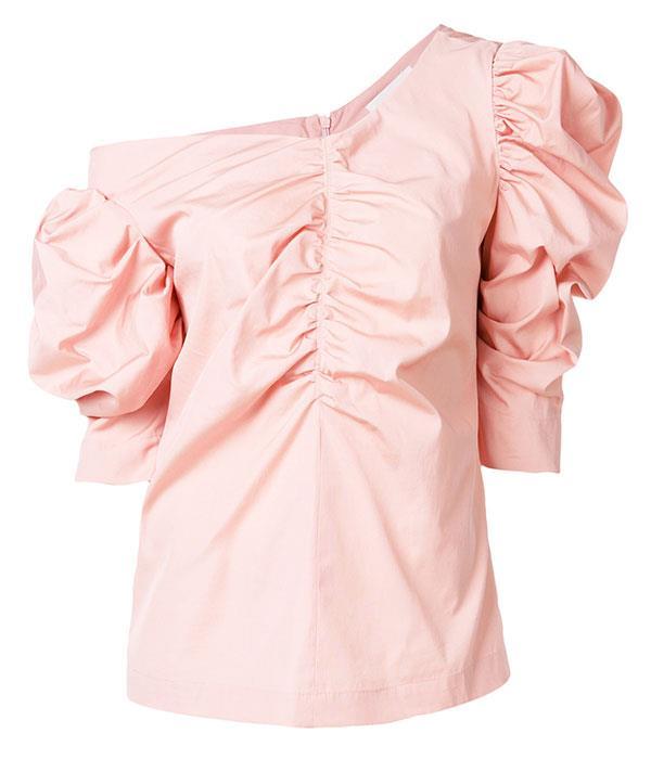 """Top, $622, Isa Arfen at [Farfetch](https://www.farfetch.com/au/shopping/women/isa-arfen-ruched-detail-blouse-item-12291808.aspx?storeid=9893&size=19&pid=googleadwords_int&af_channel=Search&c=869412447&af_c_id=869412447&af_siteid=&af_keywords=pla-545226915072&af_adset_id=44742886006&af_ad_id=218170402034&is_retargeting=true&gclid=EAIaIQobChMIoeDK3dOP1wIVkH-9Ch2cWwvREAkYFiABEgJLevD_BwE target=""""_blank"""")"""