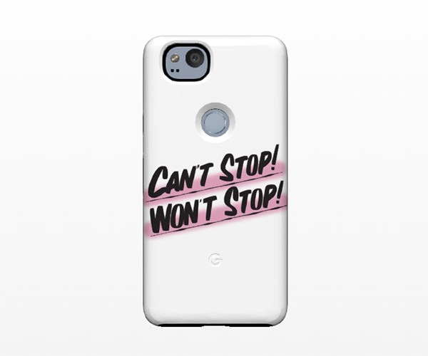 Pick up a piece of customisable art—and save your phone from getting smashed. Win win. NYC-based graphic artist Baron Von Fancy is the latest signing to collaborate with Google on phone cases for its new Pixel 2 phone. Expect to see his signature quotes and satire shine through. <br><br>Phone Case, from approx. $77, [Baron Von Fancy at Google Store](https://livecase.withgoogle.com/artworks/select-design)