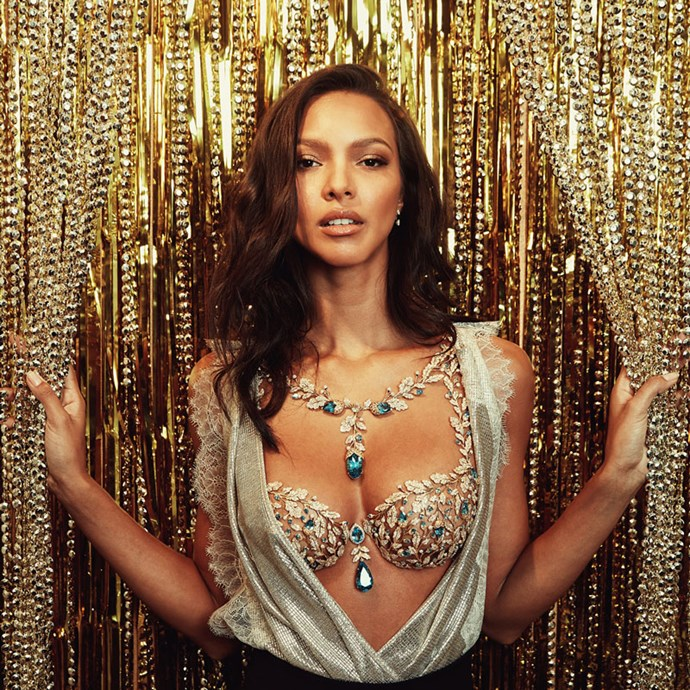 <p> <strong>The Year:</strong> 2017.<p> <P> <strong>The Bra:</strong> 2017's 'Champagne Nights Bra' is covered in 6,000 precious gemstones that have all been hand-set in 18k gold. It's worth over $2 million.<p> <p> <strong>The Wearer:</strong> Lais Ribeiro.<p>