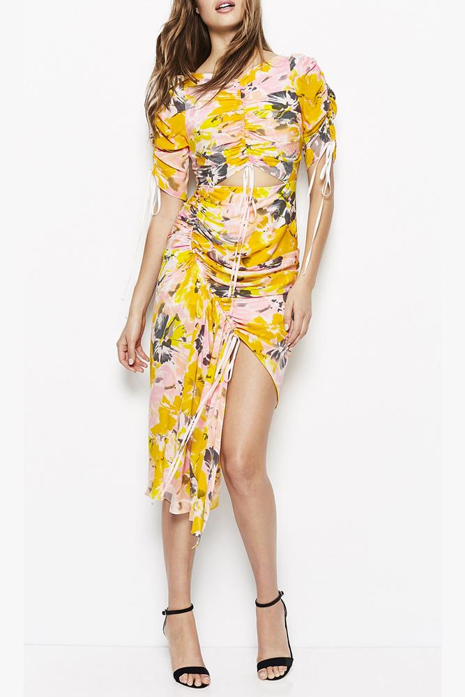 """Turn to a pop of Gen Z Yellow in this Alice McCall beauty. Add yellow-toned heels and a blush-pink hat for extra effect.</p> <p>Dress, $490, Alice McCall at [davidjones.com.au](http://shop.davidjones.com.au/djs/en/davidjones/soiree-dress-1666-21295344--1