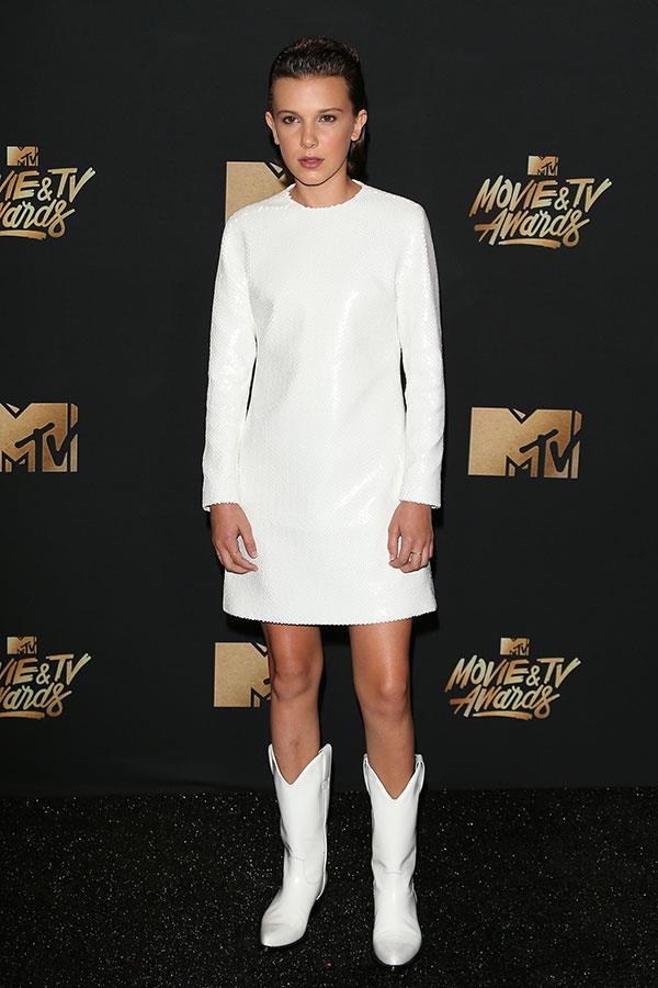 Wearing Calvin Klein at the 2017 MTV Movie & TV Awards on 7 May 2017.