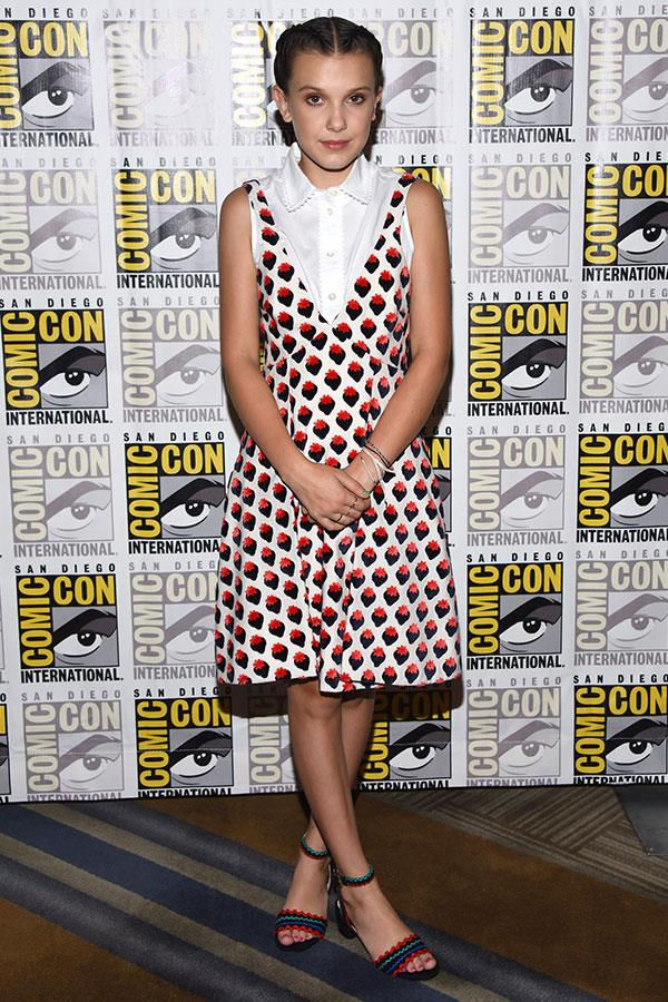 Wearing Victoria Beckham at New York Comic Con on 22 July 2017.